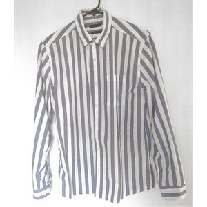 RW&CO Tailored Fit Button Down Shirt white/blue S